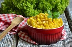 玉米保留甜点 免版税图库摄影