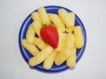 玉米做产品棍子 免版税库存图片