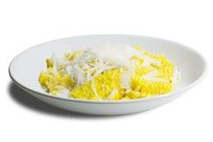 玉米切片 泰国甜可口 图库摄影