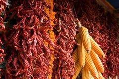 玉米加香料墙壁 库存照片