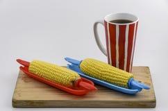 玉米和咖啡02 免版税库存照片