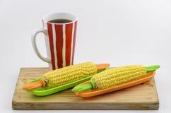 玉米和咖啡01 免版税图库摄影