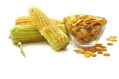 玉米和玉米片 免版税库存图片