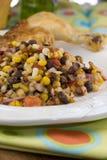 玉米和豆沙拉 库存照片