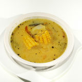 玉米和鸡汤 库存照片
