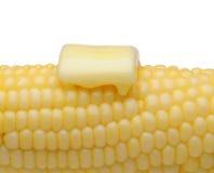 玉米和黄油特写镜头 免版税库存图片