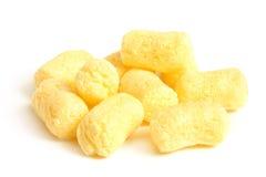玉米嘎吱咬嚼的快餐 库存照片