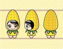 玉米女孩 免版税库存照片
