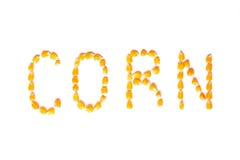 玉米字 免版税库存图片