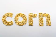 玉米拼写 库存照片