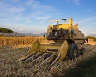 玉米收割机 图库摄影
