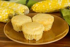 玉米新鲜的松饼 库存照片