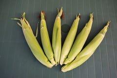 玉米新鲜的表 库存照片