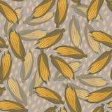 玉米无缝的样式 向量例证