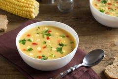 玉米杂脍汤 免版税库存照片