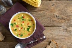 玉米杂脍汤 免版税库存图片