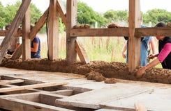 玉米棒constrution墙壁 库存照片