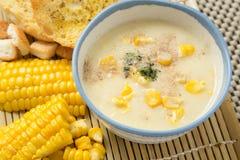 玉米汤 免版税图库摄影