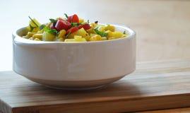 玉米汤 库存照片