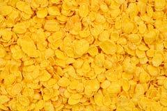 玉米片背景和纹理 顶视图 玉米片谷物b 库存照片