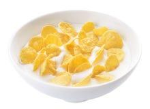 玉米片酸奶 免版税库存图片