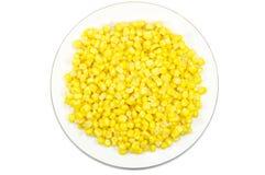 玉米牌照甜点 图库摄影