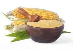 玉米用沙粒麦片粥 库存图片