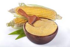 玉米用沙粒麦片粥 图库摄影