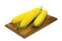 玉米的果子在白色的 免版税库存图片