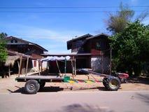 玉米的汽车向泰国 库存图片