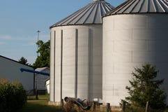 玉米筒仓 库存照片