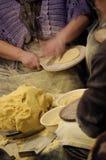 玉米粉薄烙饼 免版税图库摄影