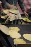 玉米粉薄烙饼 图库摄影