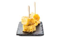 玉米粉薄烙饼de patatas 免版税图库摄影