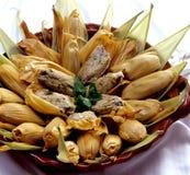 玉米粽子 库存图片