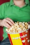 玉米花和戏院 免版税库存照片