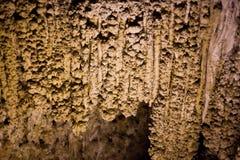 玉米花&钟乳石在卡尔斯巴德洞穴 免版税图库摄影