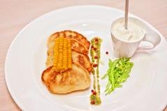 玉米薄煎饼 库存照片