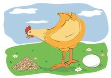 玉米蛋母鸡 向量例证