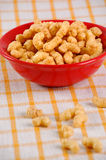 玉米装饰快餐 图库摄影