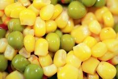 玉米豌豆 库存图片
