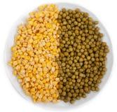 玉米豌豆 免版税库存图片
