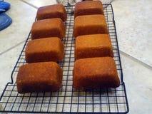 玉米面面包松饼 免版税库存照片