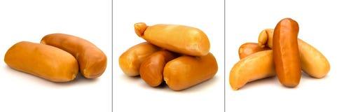 玉米香肠汇集 免版税库存图片
