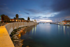 玉蜀黍属小游艇船坞,雅典 免版税图库摄影