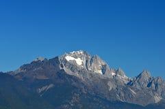 玉龙雪山在冬天 图库摄影