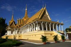 王位大厅在Phnom Pehn 免版税库存照片