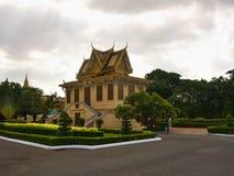 王位大厅在Phnom Pehn 库存图片