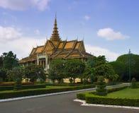 王位大厅在Phnom Pehn 免版税库存图片