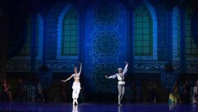 """王子和公主在芭蕾""""One一千和一Nights†以后愉快地居住 图库摄影"""